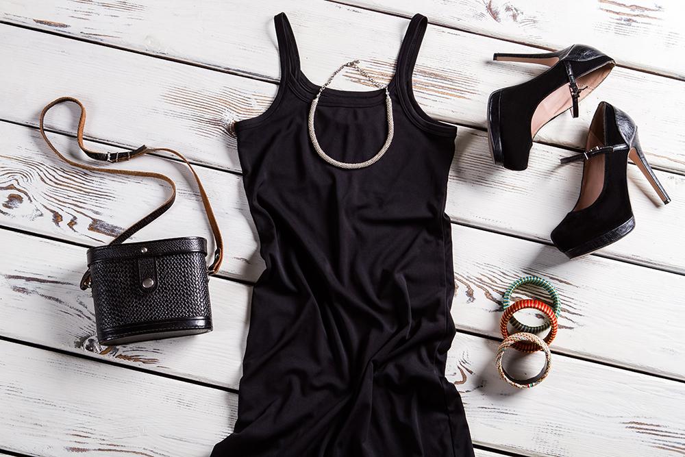 accessoires robe noire