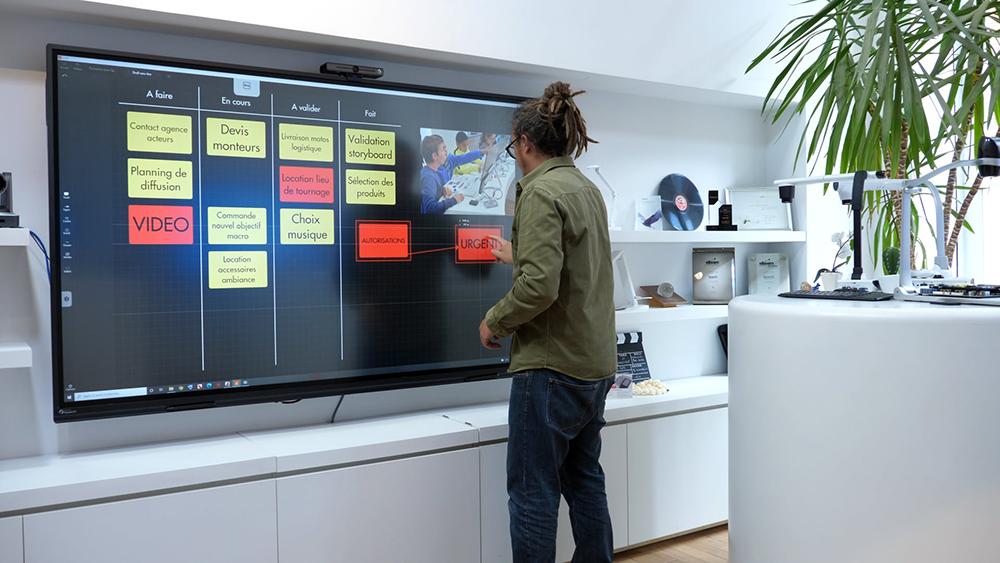 écran tactile réunion