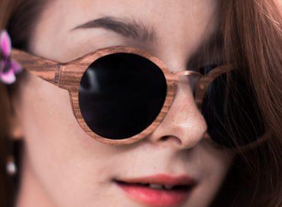 lunettes en bois tendance bambou