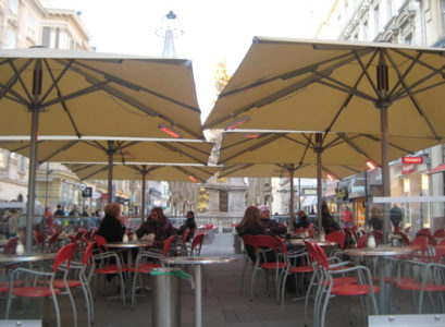 parasols chauffants