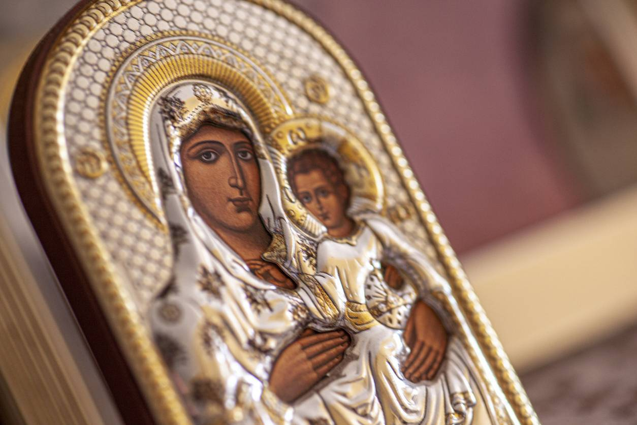 objets religieux icône de la Vierge Marie