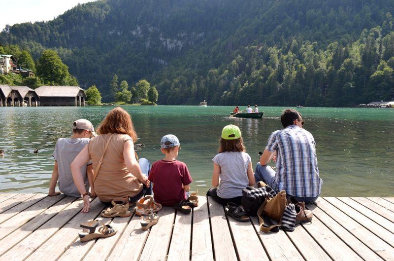 vacances d'été avec sa famille